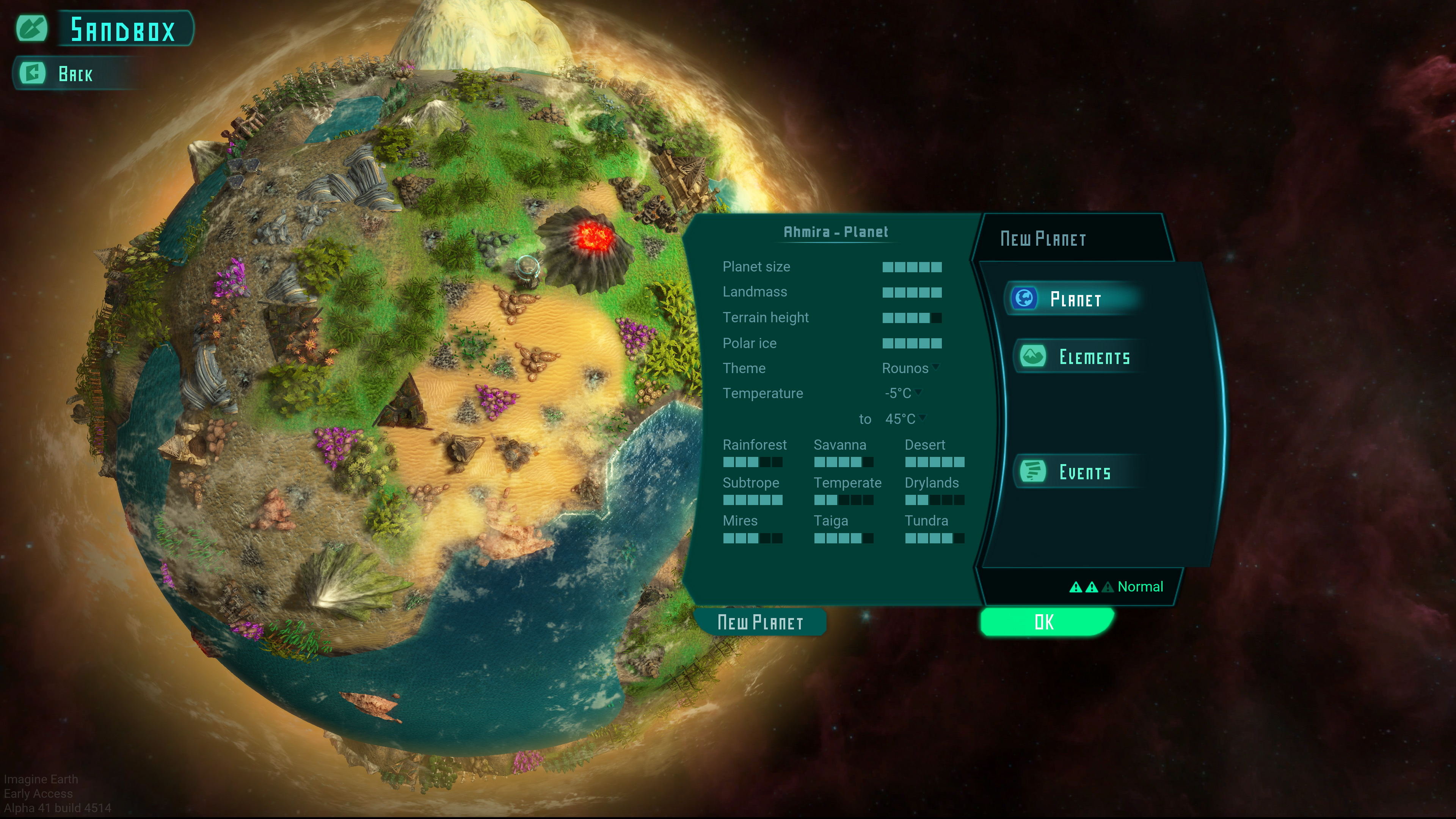 sandbox new imagine earth